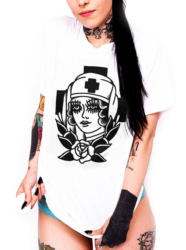 Women's Frontline Nurse Tee by Cartel Ink