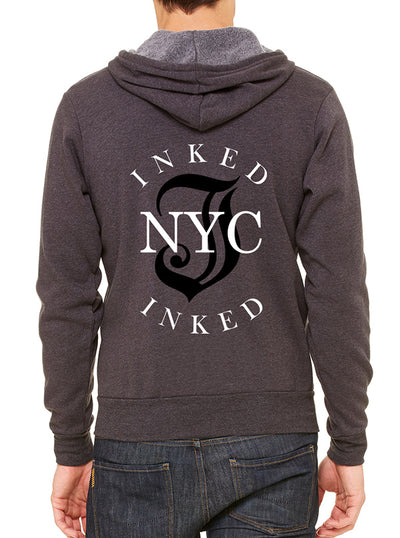 Unisex Inked NYC Zip Up Hoodie by Inked