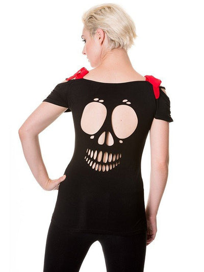 "Women's ""Bird in Skeleton Cage"" Top by Banned Apparel (Black) - www.inkedshop.com"