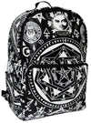 """Occult"" Backpack by Killstar (Black/White)"