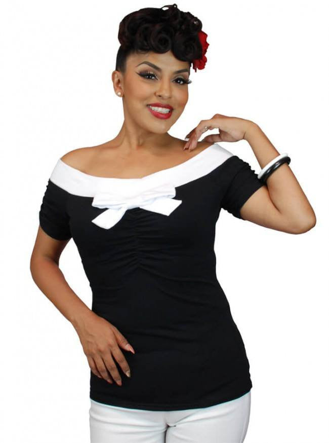 "Women's ""Off The Shoulder"" Top by Pinky Pinups (More Options) - www.inkedshop.com"