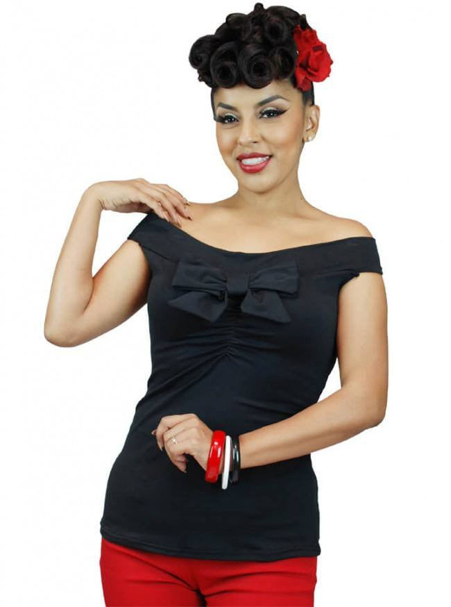 "Women's ""Off The Shoulder"" Sleeveless Top by Pinky Pinups (More Options) - www.inkedshop.com"
