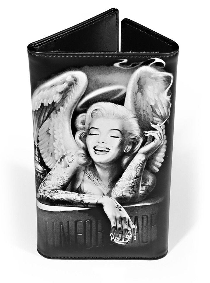 "Women's ""Angelyn"" Long Wallet by OG Abel (Black) - www.inkedshop.com"