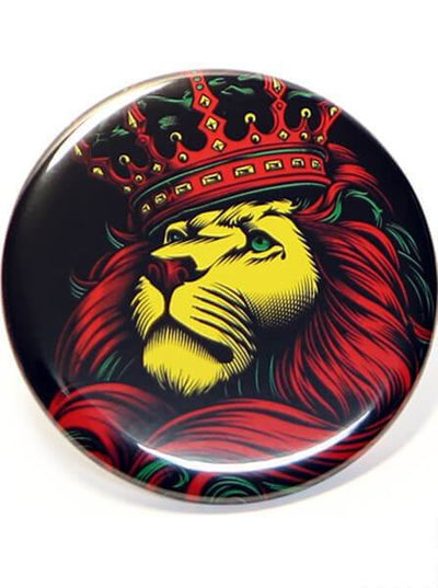 """Crown Rasta"" Pin by Og Abel - www.inkedshop.com"