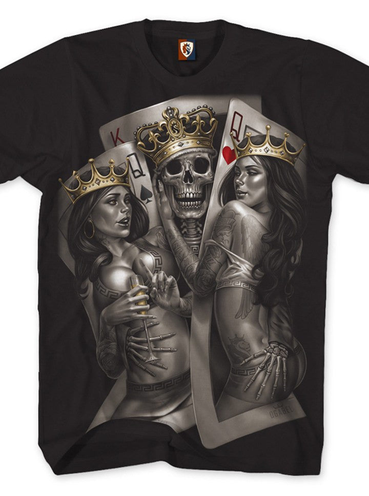 OGABEL Collection Queen Of Hearts T Shirt Tee OG ABEL Black ...