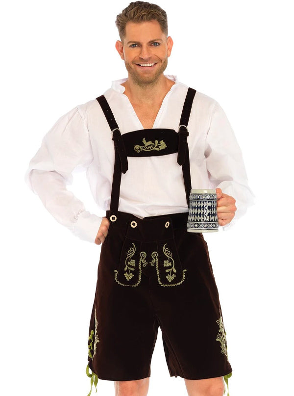 Men's Oktoberfest Lederhosen Costume by Leg Avenue (Brown)