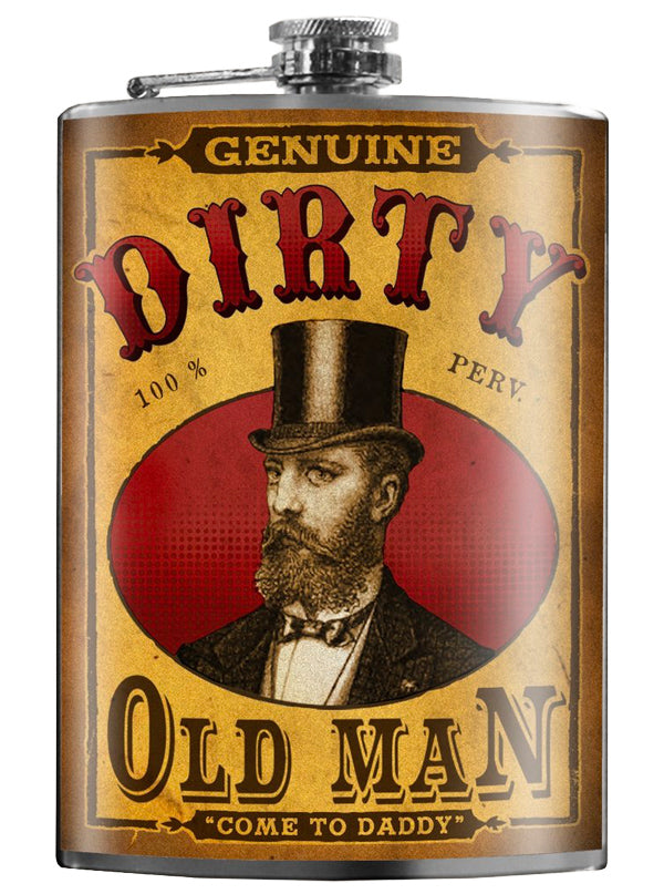 Dirty Old Man Flask by Trixie & Milo