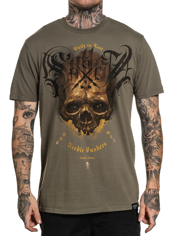 Men's Olive Skull Tee by Sullen