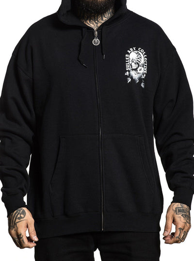 Men's One More Fix Zip Hoodie by Sullen (Black)