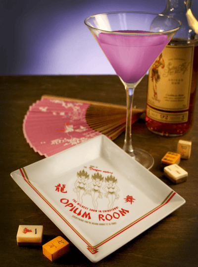 """Opium Room"" Coaster/Cocktail Napkin Tray by Trixie & Milo (1940's Hollywood) - www.inkedshop.com"