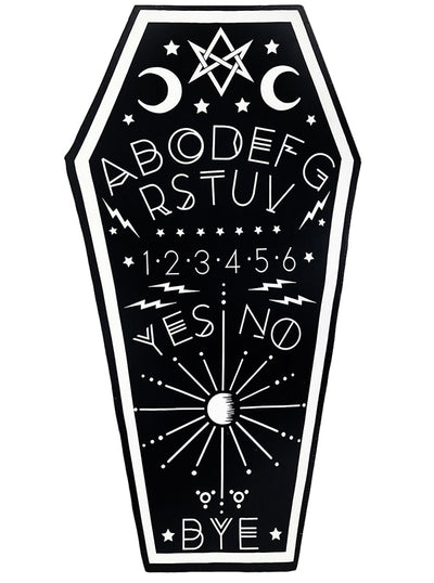 Ouija Board Coffin Beach Towel by Rat Baby