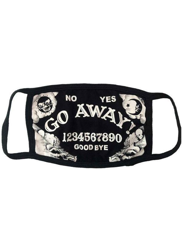 Go Away Face Mask by Kreepsville 666