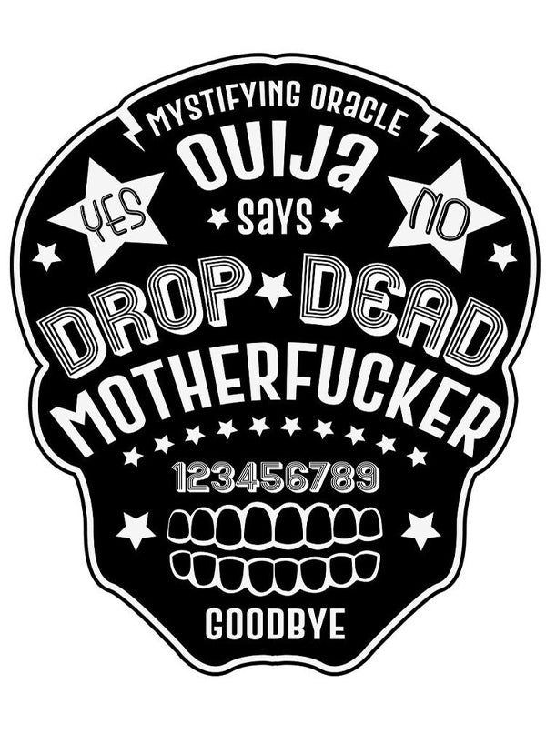 Drop Dead Ouija Skull Bath Towel Set by Too Fast