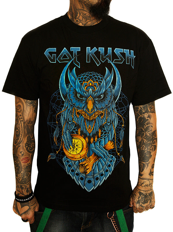 Men's Out Of Time Tee by Kush Kills Clothing (Black)