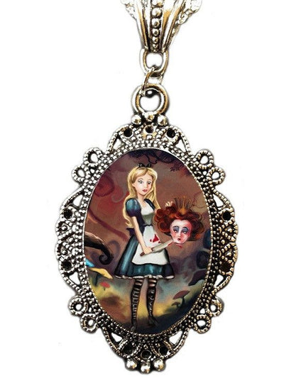 """Off With Her Head"" Cameo by Alkemie & Artistry - www.inkedshop.com"
