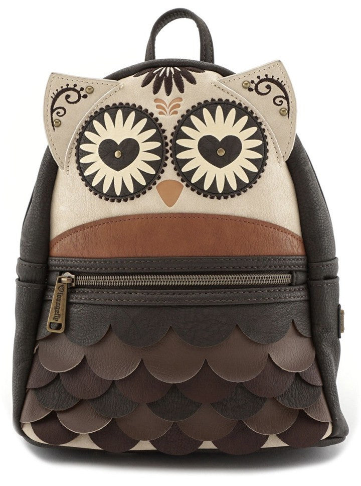 Owl Mini Faux Leather Backpack by Loungefly (Brown)