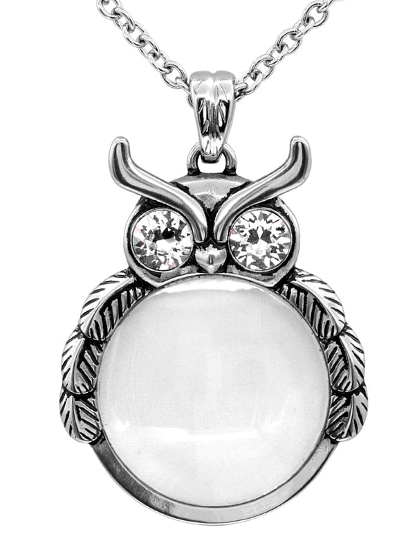 """Mystic Owl"" Necklace by Controse (Silver)"
