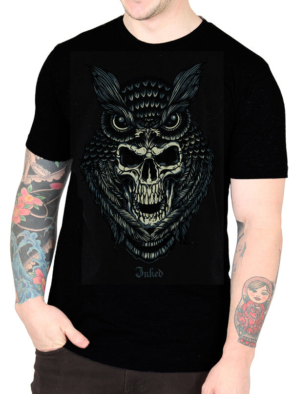 Men's Owl Tee by Inked
