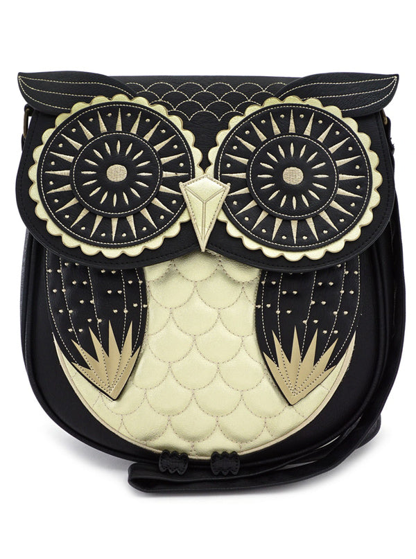 Owl Crossbody Bag by Loungefly (Black/Gold)