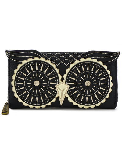 Owl Wallet by Loungefly (Black/Gold)