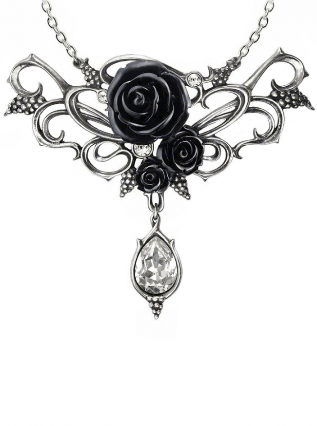 """Bacchanal Rose"" Necklace by Alchemy of England - www.inkedshop.com"