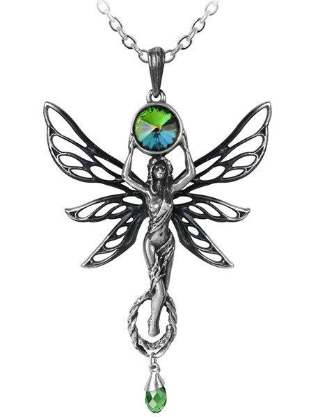 """The Green Goddess"" Pendant by Alchemy of England - www.inkedshop.com"