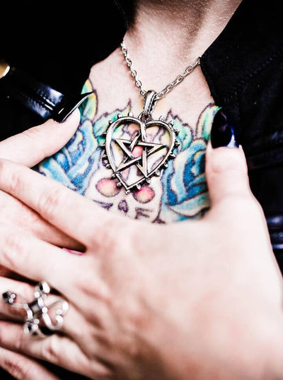 """Cunning Heart"" Necklace by Alchemy of England (Silver) - www.inkedshop.com"