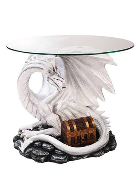 """White Dragon"" Table by Pacific Trading - www.inkedshop.com"