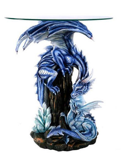 """Blue Dragon"" Table by Pacific Trading - www.inkedshop.com"