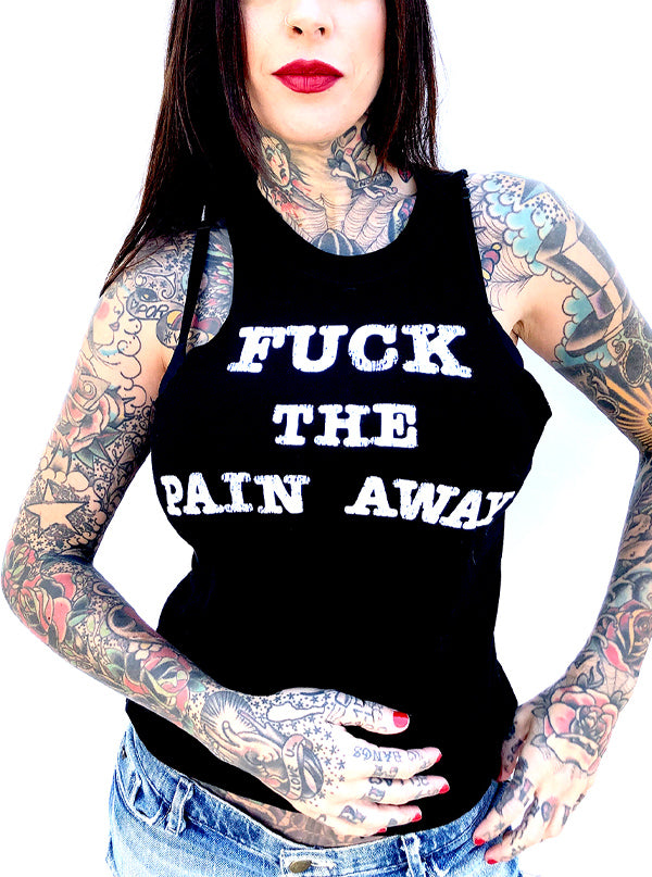 Women's Fuck The Pain Away Slim Tee by Gypsy Treasures