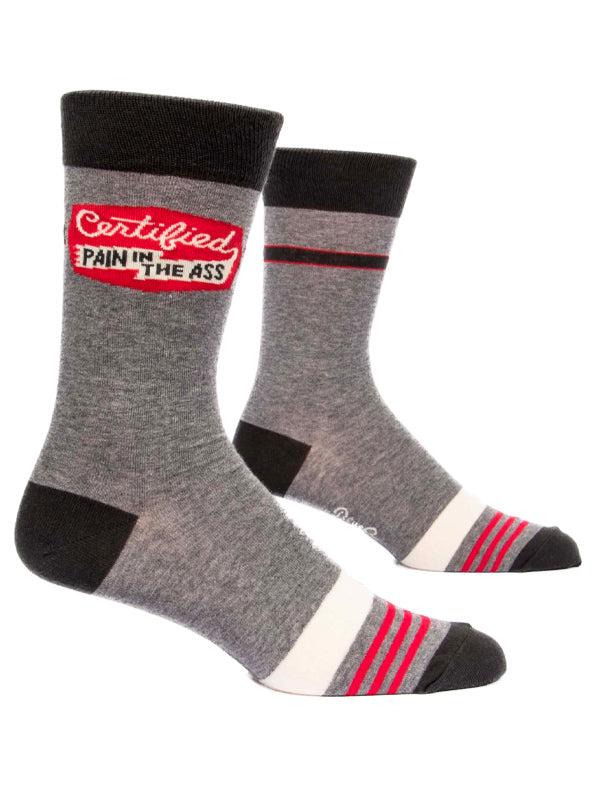 Men's Certified Pain In The Ass Crew Socks