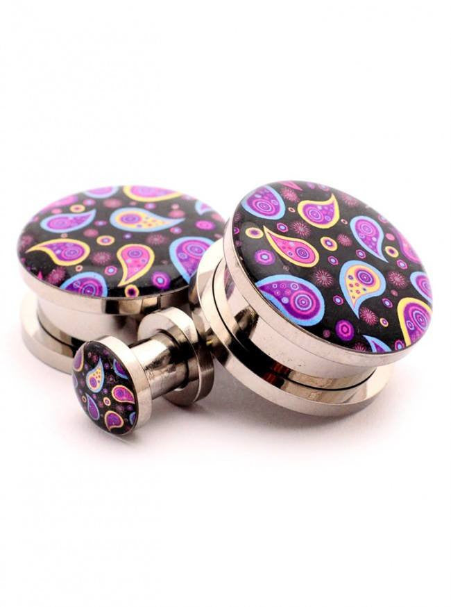 Paisley Picture Plugs by Mystic Metals - www.inkedshop.com