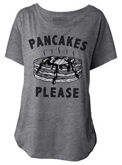 "Women's ""Pancakes Please"" Dolman Tee by Pyknic (Heather Grey) - www.inkedshop.com"