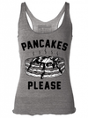 "Women's ""Pancakes Please"" Racerback Tank by Pyknic (Heather Grey) - www.inkedshop.com"