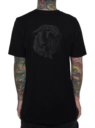 Unisex Panther Rose Tee by InkAddict (Black Collection)