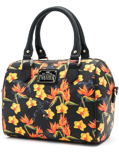 Marvel: Black Panther Floral Print Duffle Bag by Loungefly
