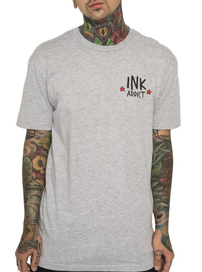 "Men's ""Panther Rose"" Tee by InkAddict (Heather Grey)"