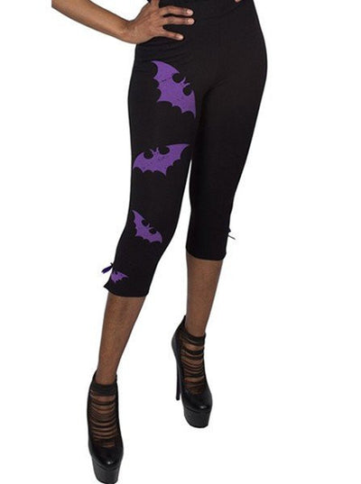 "Women's ""Bat-Tastic"" Leggings by Kreepsville 666 (Black) - www.inkedshop.com"
