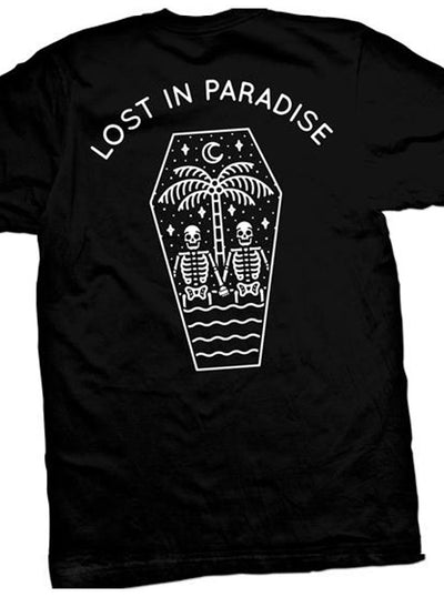 "Men's ""Lost In Paradise"" Tee by Cartel Ink (Black)"