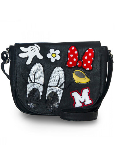 Minnie Patches Crossbody Bag by Loungefly