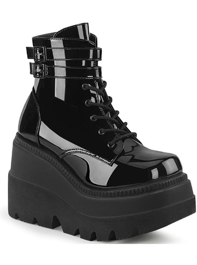 Women's Shaker 52 Wedge Boots by Demonia