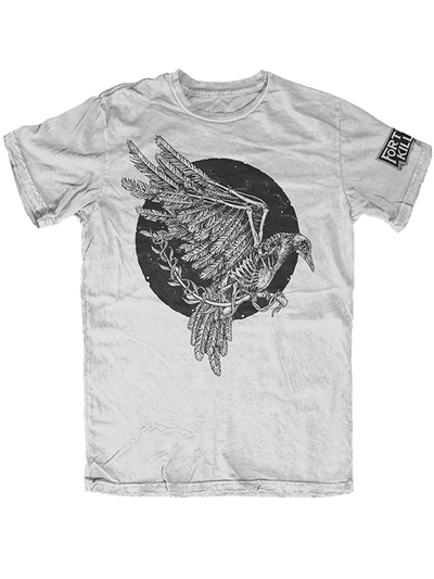 "Men's ""Peace in the Flesh"" Tee by Fortune Killer (Light Grey) - www.inkedshop.com"