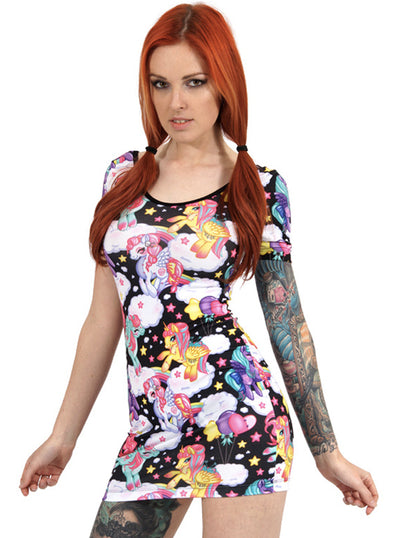 "Women's ""Pegasus"" Dress by Liquorbrand (Black)"