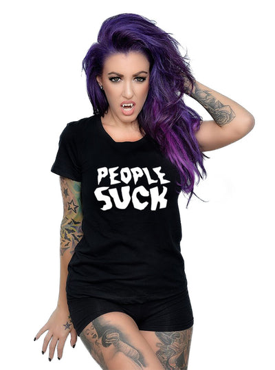 Unisex People Suck Tee by Dirty Shirty