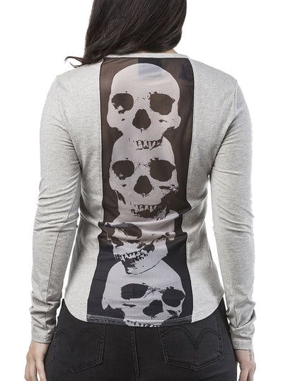 "Women's ""Phillips"" Long Sleeve Tee by Headrush Brand (Grey)"