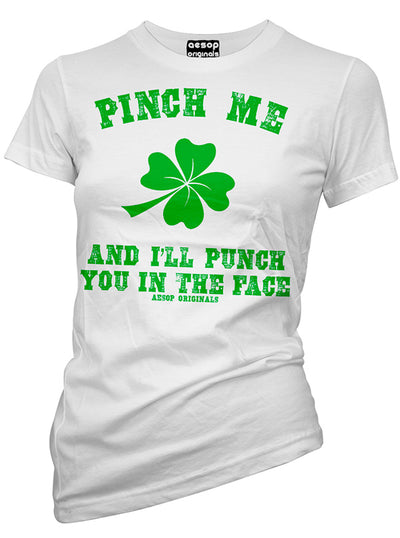Women's Pinch Me & I'll Punch You Tee by Aesop Originals