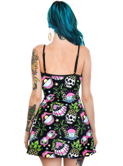 Women's Tropical Dreams Skater Dress by Too Fast