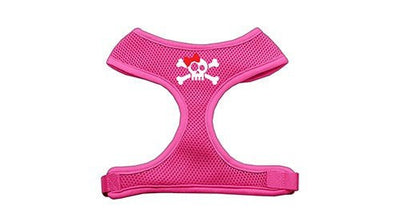 Skull Bow Screen Print Soft Mesh Harness - MORE SIZES AND COLORS AVAILABLE - InkedShop - 4