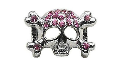 "3/8"" Skull Slider Charm Black - Pet Charm - MORE COLORS AVAILABLE - InkedShop - 5"