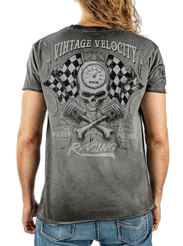 "Men's ""Wicked Pistons "" Tee by Lethal Threat (Grey)"